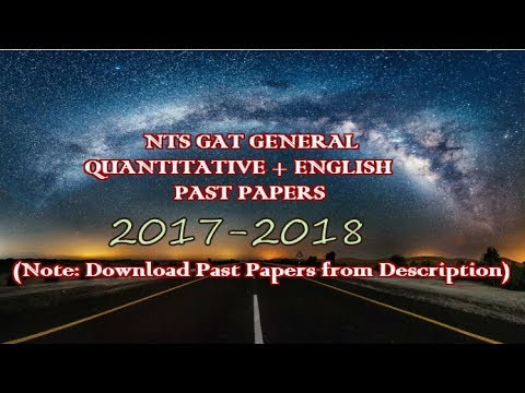 NTS GAT GENERAL Quantitative (2017-2018) Past Papers