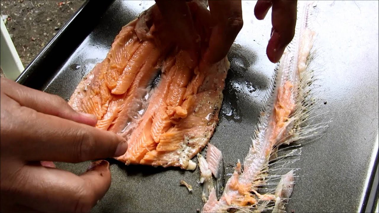 how to debone trout and kokanee  using a traeger to smoke