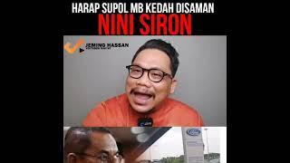 Semoga Supol MB Kedah disaman Nini Siron.
