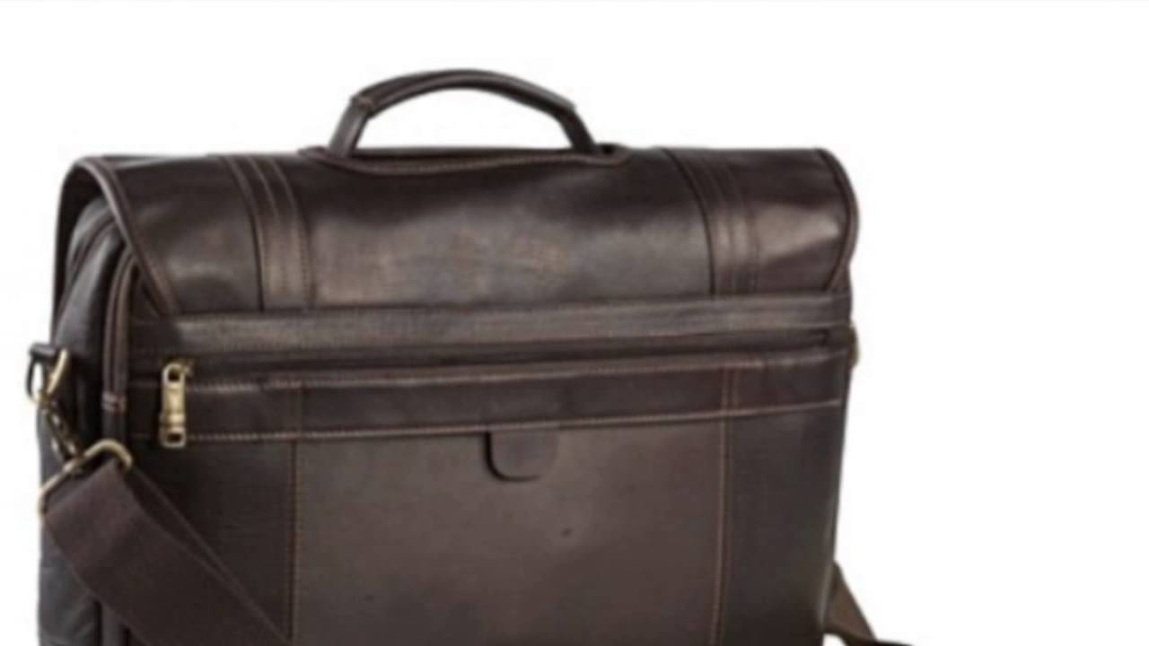 Samsonite Colombian Leather Flapover 15. 6 Laptop Briefcase (Apparel ... 5a4547f6b65b7