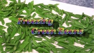 How To Prepare A Small Harvest Of Garden Green Beans For Freezing - Kentucky Wonder (organic)