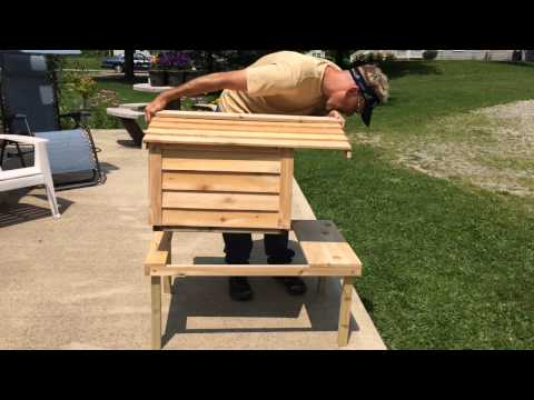 Insulated Cedar Cat-House Assembly-Our cats love this house!!!!!!!!!!