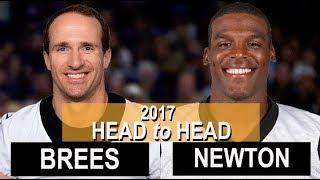 Drew Brees vs. Cam Newton in 2017's 2 regular season games thumbnail