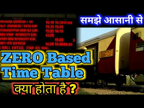 What Is Zero Based Time Table In Indian Railways | Aur ise kyu ...
