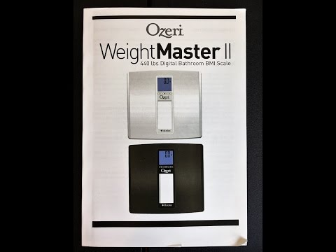 Ozeri Weight Master Review and Unboxing 440 LBS BMI Scale