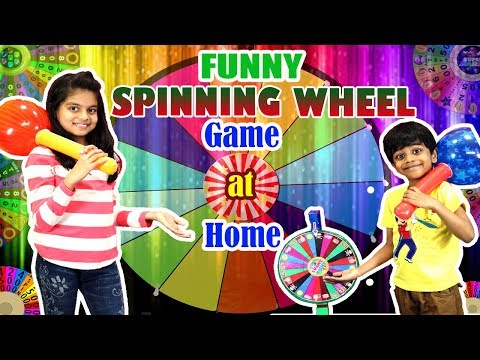 Funny Spinning Wheel game at home