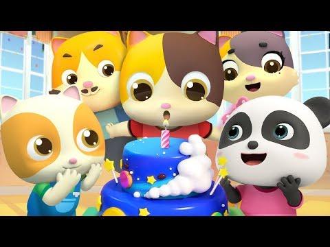 小貓咪的生日派對   2020最新學顏色兒歌童謠   生日快樂卡通   動畫   寶寶巴士   BabyBus