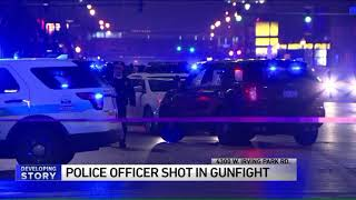 Chicago police officer shot in head during gun battle with robbery suspect