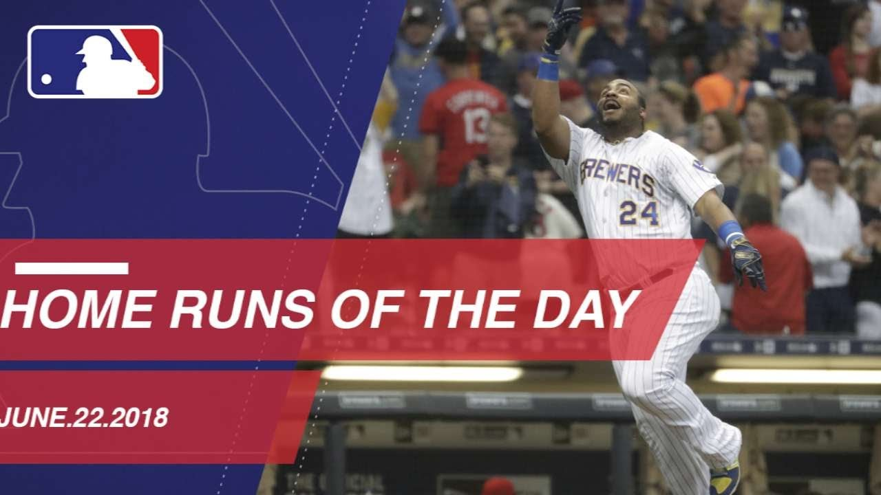 Watch all the home runs from June 23, 2018