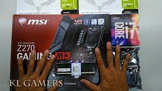 intel Core i7 7700 msi Z270 GAMING M3 8GB RAM NVIDIA  2 x GT 710 FUTURA N5000 Multi Display Desktop