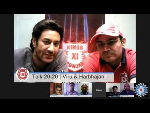 #KXIPHangout Talk 20 20 with Virender Sehwag & Harbhajan Mann