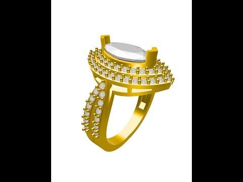3d modeling 2  diamond ring