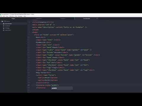 HTML Kursus For Begyndere #10 | Formularer I HTML Del 2
