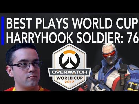 Overwatch Gameplay - HarryHook Best Plays on Soldier 76 | World Cup 2017