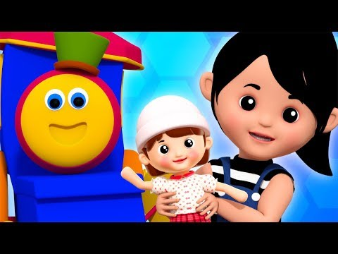 Miss Polly Had A Dolly | Bob The Train | Kindergarten Video | Nursery Rhymes For Kids