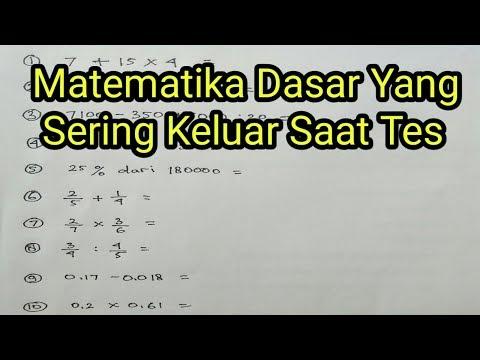 Matematika Dasar (Penjumlahan,Pengurangan,Perkalian,Pembagian,Angka Pecahan,bilangan Desimal )