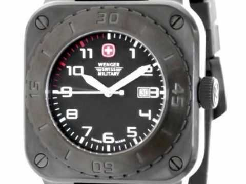 a013cca77dd Swiss Military Extra Large Deal - Wenger Black Square Watch 72995 by ...