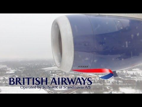 Landing at Billund Airport, British Airways (SUN-AIR) Dornier 328 JET