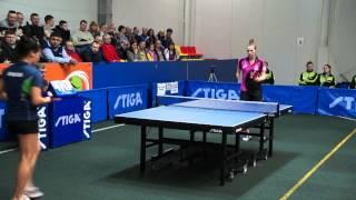Valentina Sabitova - Natalia Partyka ETTU CUP 2014/2015 1/2 (WOMEN) Настольный Теннис