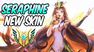 GRACEFUL PHOENIX SERAPHINE FULL AP - New Amazing Skin Gameplay | Build & Runes | League of Legends