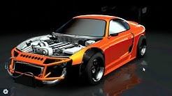 Car X Drift Racing HUGE Update CUSTOMIZATION!! Widebody/NO Hood! | SLAPTrain