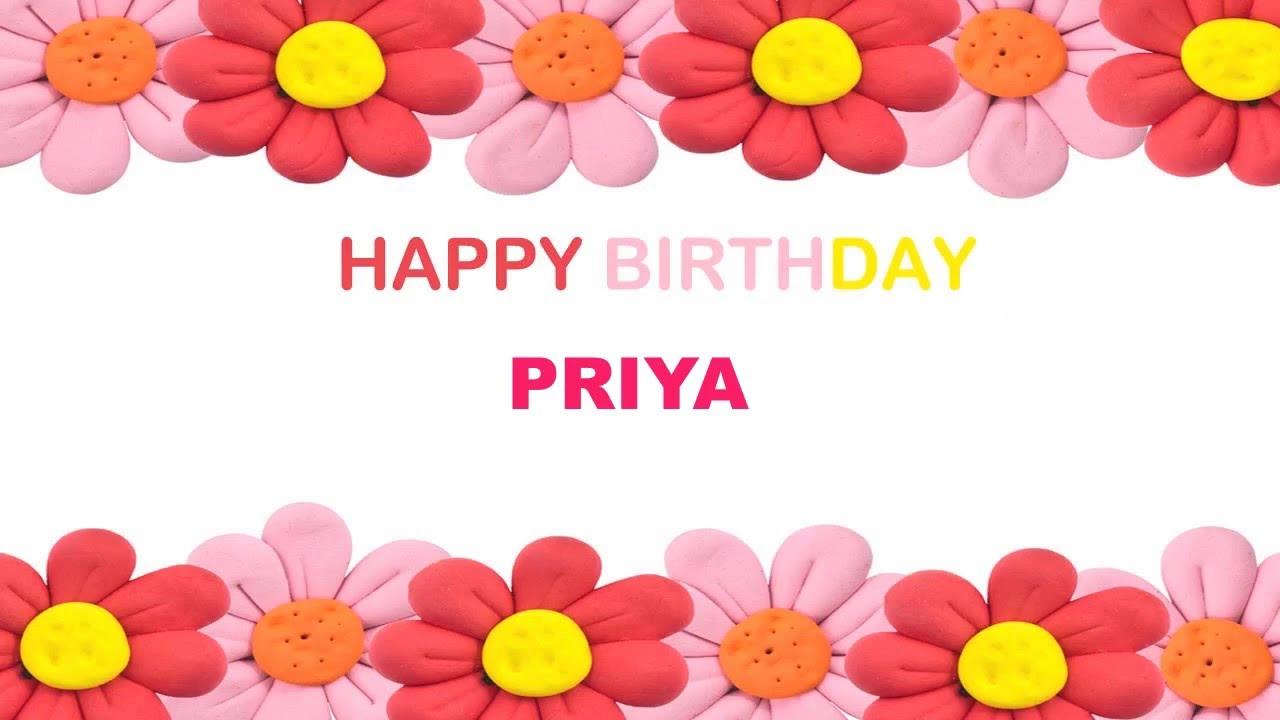 Priya Birthday Postcards & Postales - Happy Birthday - YouTube