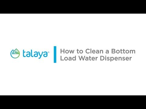 How to clean a bottom load water dispenser