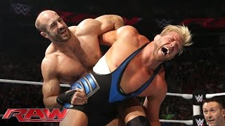 Jack Swagger vs. Cesaro: Raw, Aug. 18, 2014