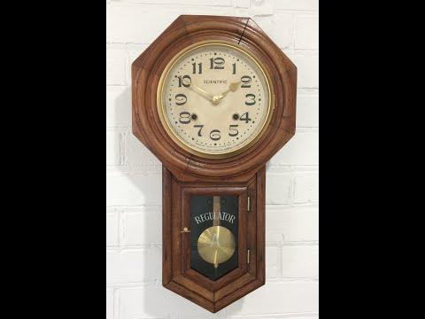Vintage Original Scientific Regulator Pendulum Chime Wall Clock - 1258 BidAway