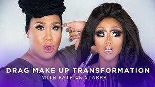Drag Queen Makeup Transformation w/ Patrick Starrr