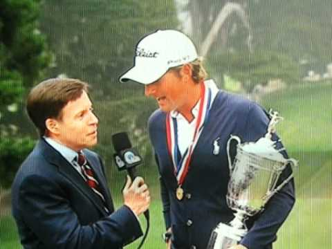 Crazy Guy at US Open during Webb Simpson interview