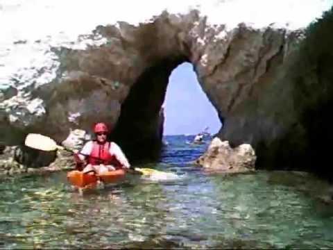 Sea kayaking in