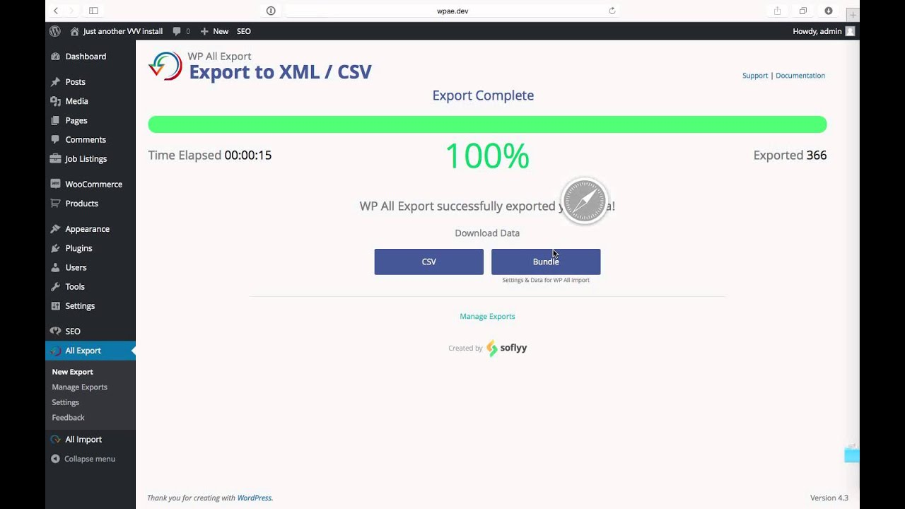 Export WooCommerce Products - WP All Import