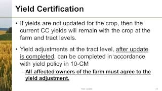 Yield Updating for the 2014 Farm Bill