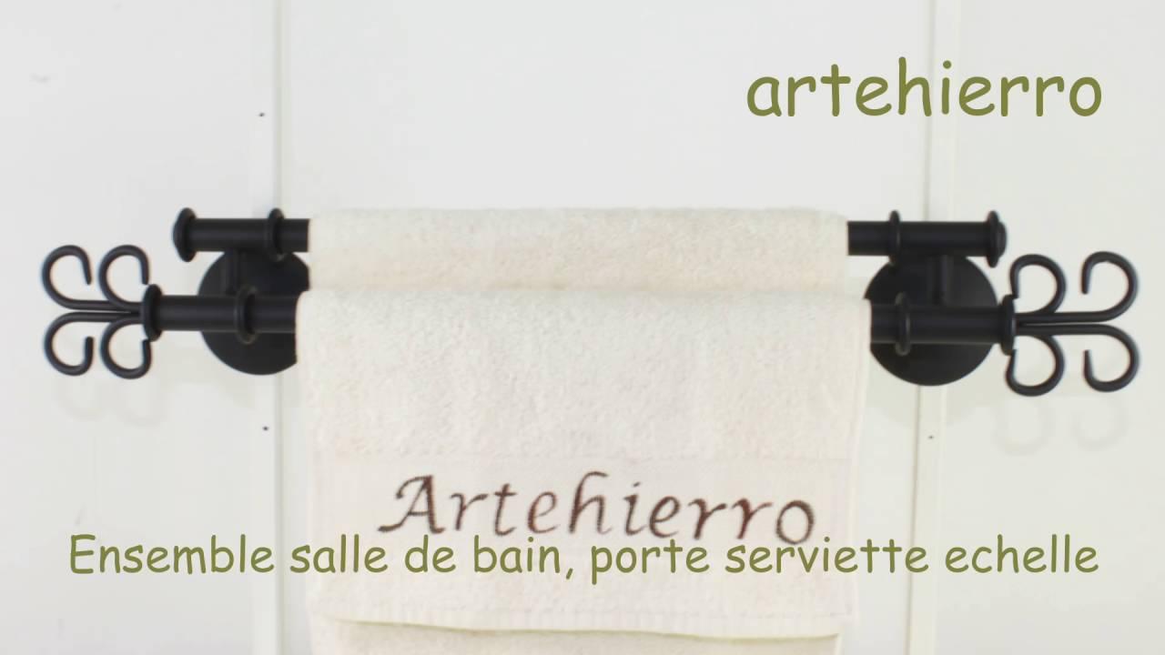 Ensemble Salle De Bain Porte Serviette Echelle Pour La Décoration