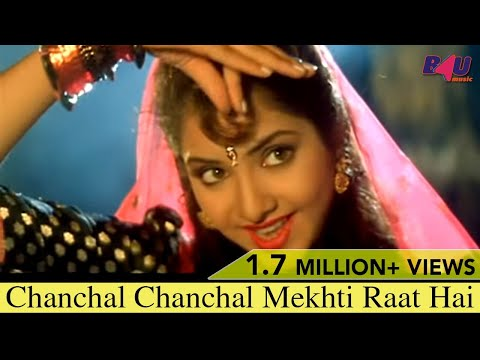 Chanchal Chanchal Mekhti Raat Hai | Full Song | Jaan Se Pyaara | Govinda, Divya Bharti | HD