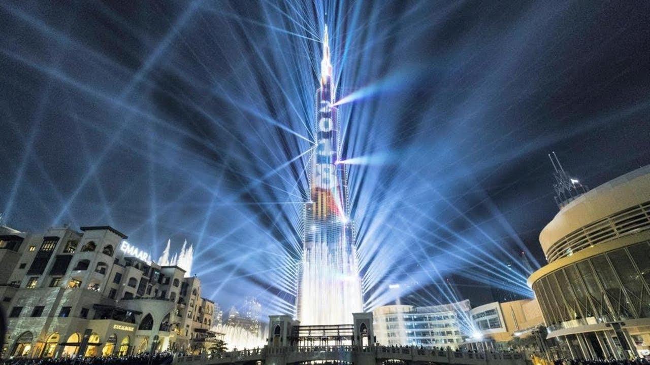 Light Up 2018 Laser Show At Dubai Burj Khalifa