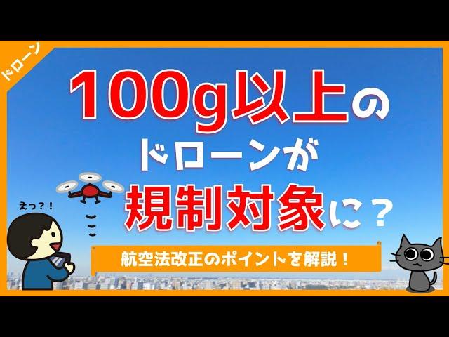 【ドローン飛行許可申請】100g以上のドローンも規制対象に!?