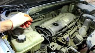 Peugeot 407 1,8 Пежо 407 2005 года Замена ремня ГРМ роликов и помпы  2часть