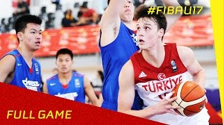 Turkey v Chinese Taipei - Full Game - 2016 FIBA U17 World Championship