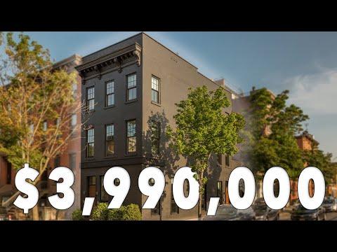 Award-Winning Modern Brooklyn Townhouse w/ Stacked 2 Car Garage & Rooftop in Carroll Gardens NYC