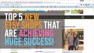 Top 5 New Etsy Shops That Are Achieving Huge Success!