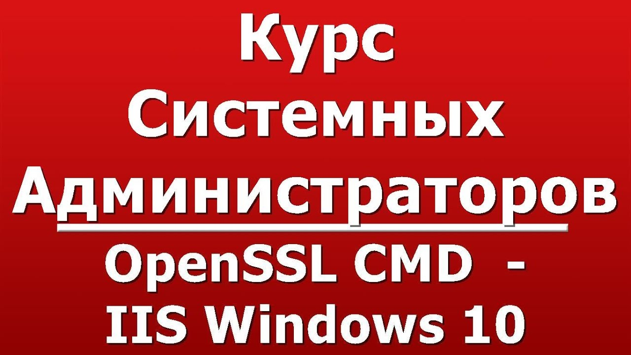 OpenSSL CMD - IIS Windows 10