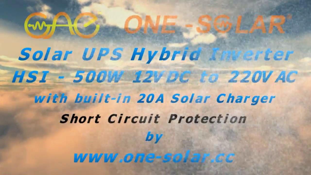 Short Circuit Protection - Solar UPS hybrid Inverter DC to