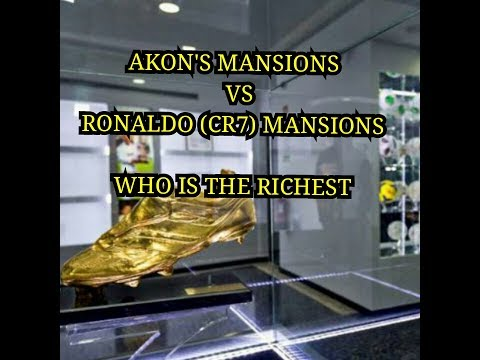 Akon vs Cristiano Ronaldo finest mansion (interior and exterior) who is the richest