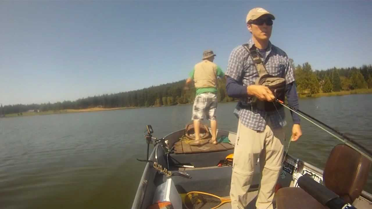 Fly fishing lone lake on whidbey island wa osp youtube for Fly fishing classes near me