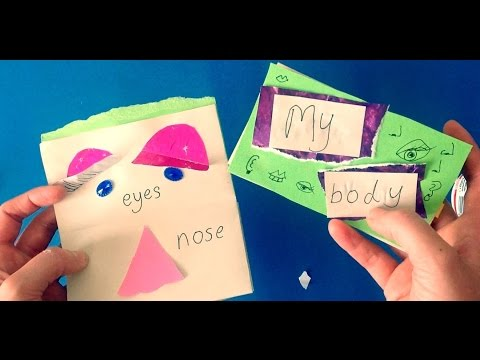Children's Book Making Craft (My Body/ Face Parts) Arts Activity Kindergarten