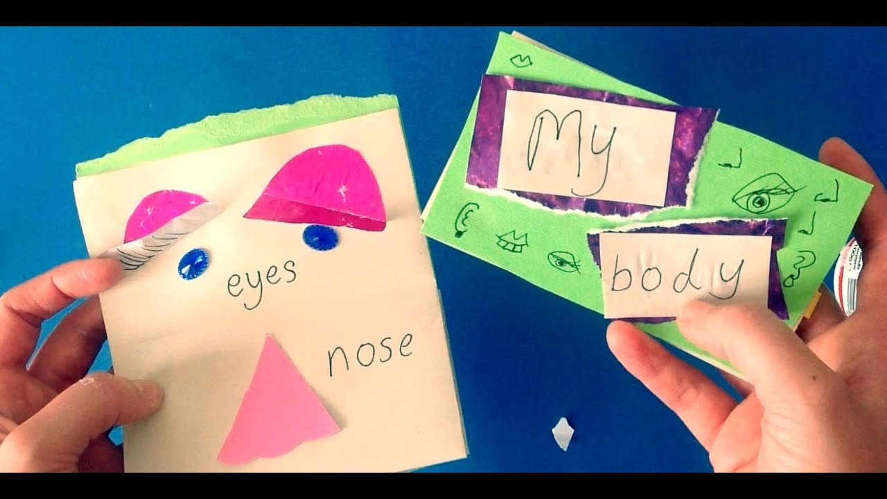 Children S Book Making Craft My Body Face Parts Arts Activity