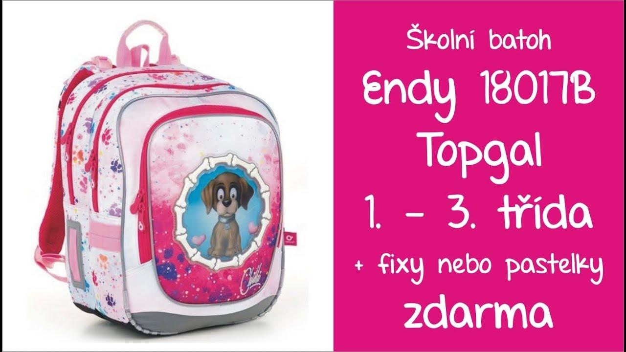 Školní batoh Topgal Endy 18017 G 1. - 3. třída - YouTube 196ff8adee