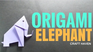 Easy Origami Elephant - How-To Make Paper Elephant Step-by-Step Tutorial - DIY Crafthaven
